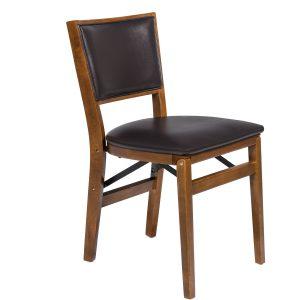 Model 357 Retro Upholstered Back Folding Chair