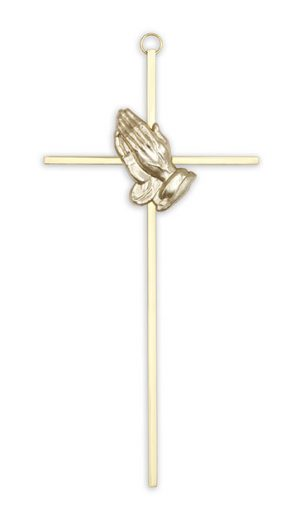 Praying Hands Crucifix