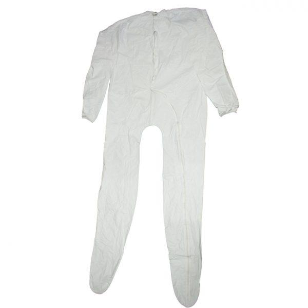 Full Zippered White Unionalls