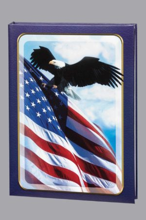Patriotic 6 Ring Register Book